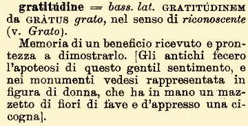 etimologia di gratitudine