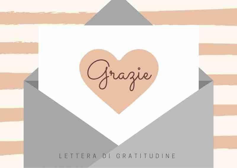 lettera di gratitudine